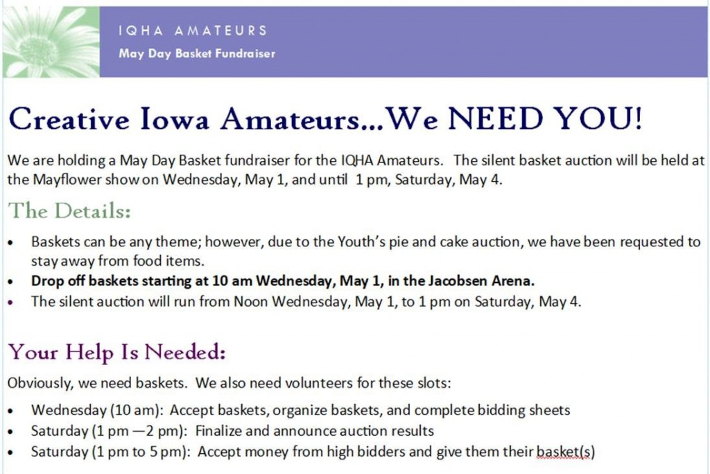 Amateur News – Iowa Quarter Horse Association