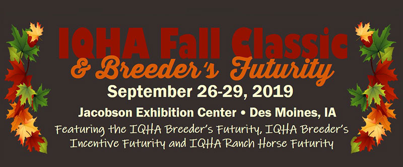 IQHA Stallion Auction & Breeder's Futurity – Iowa Quarter